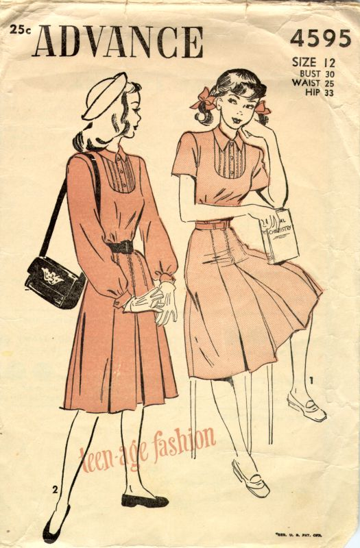 1940sadvanceteensdress